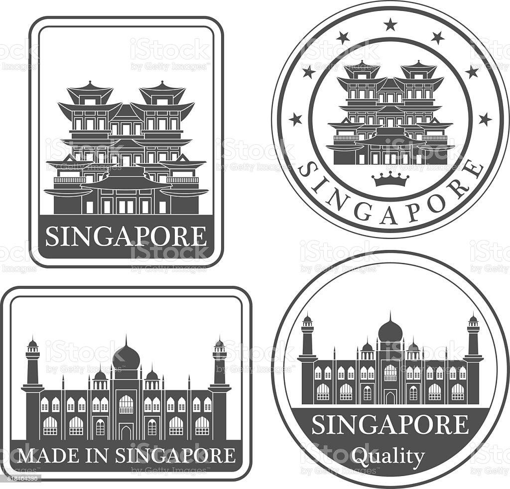 Singapore vector art illustration