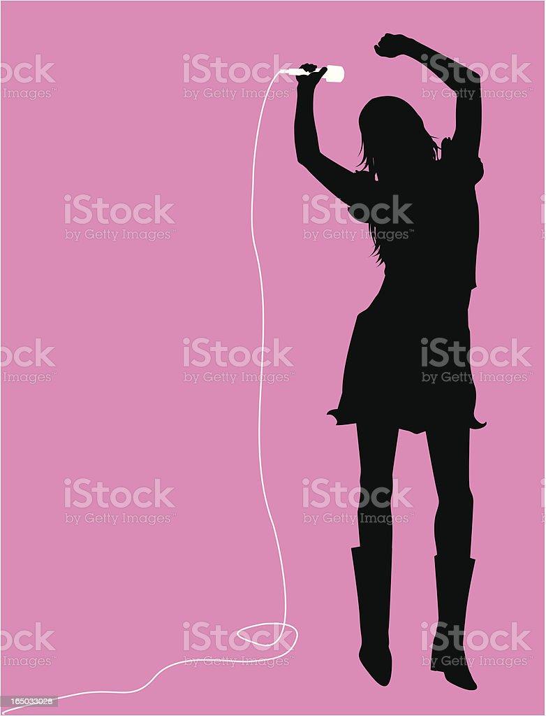 Singer Dancer  ( Vector ) royalty-free stock vector art