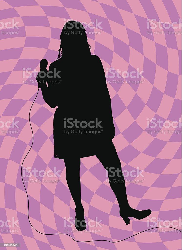 Singer vector art illustration