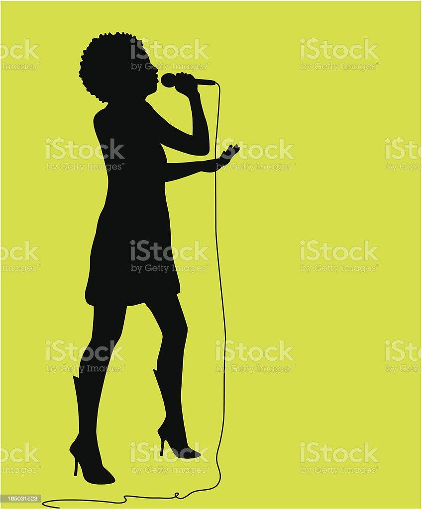 Singing Audition ( Vector ) vector art illustration
