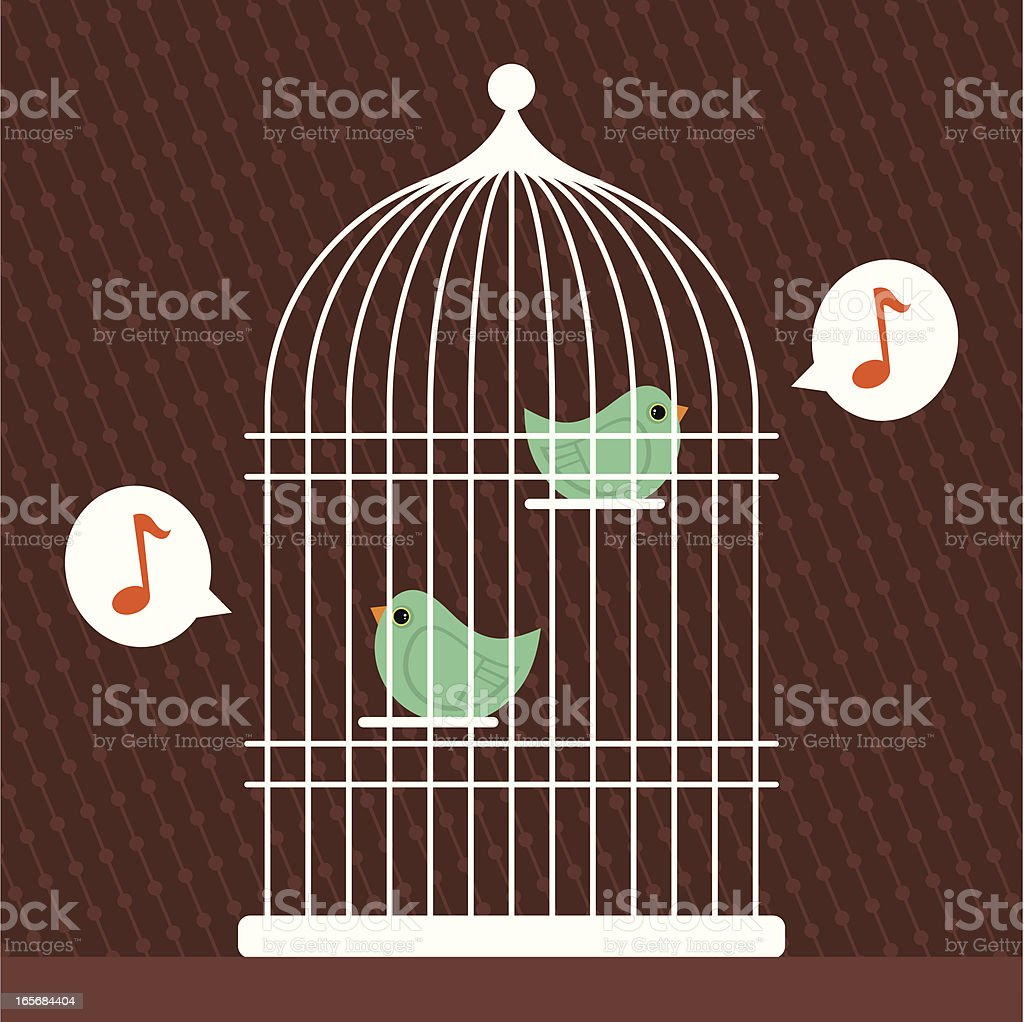 Singing Birds royalty-free stock vector art