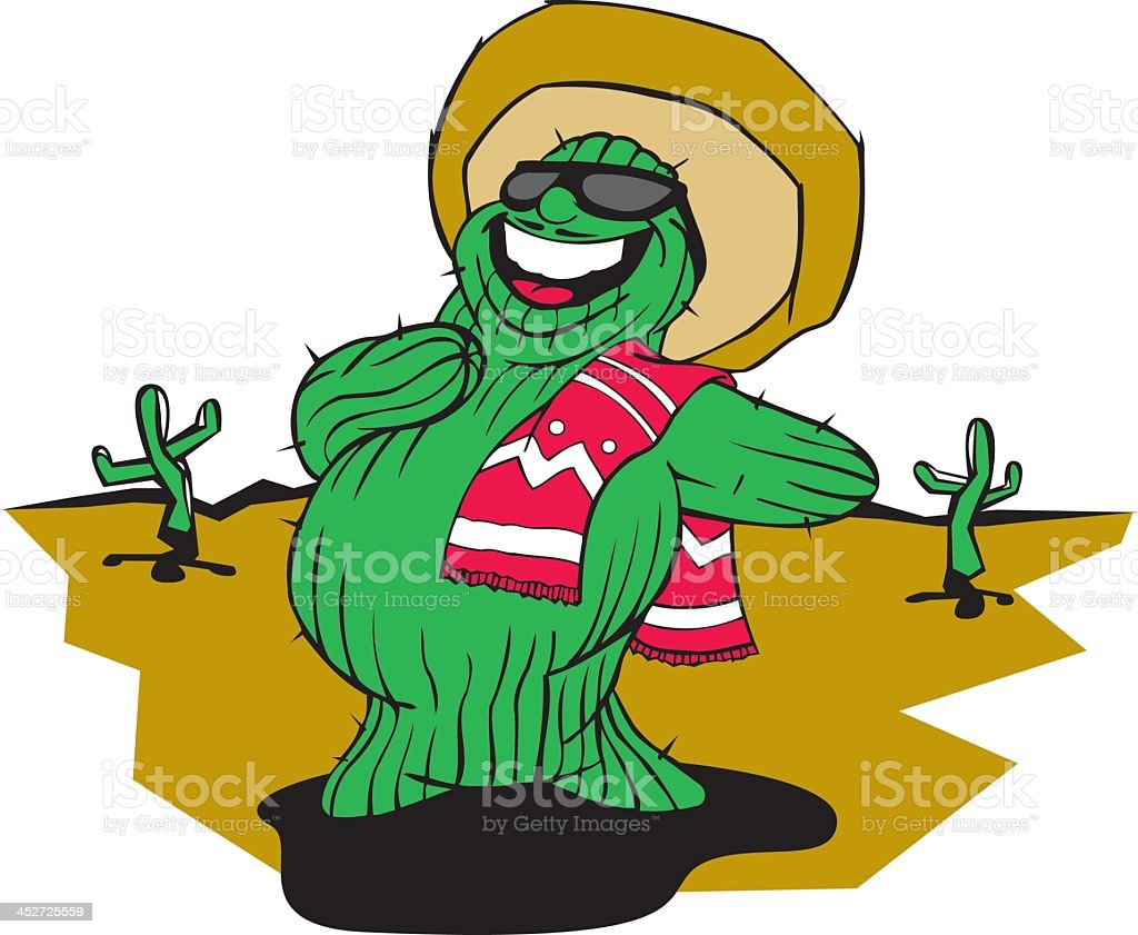 Singing Cactus royalty-free stock vector art