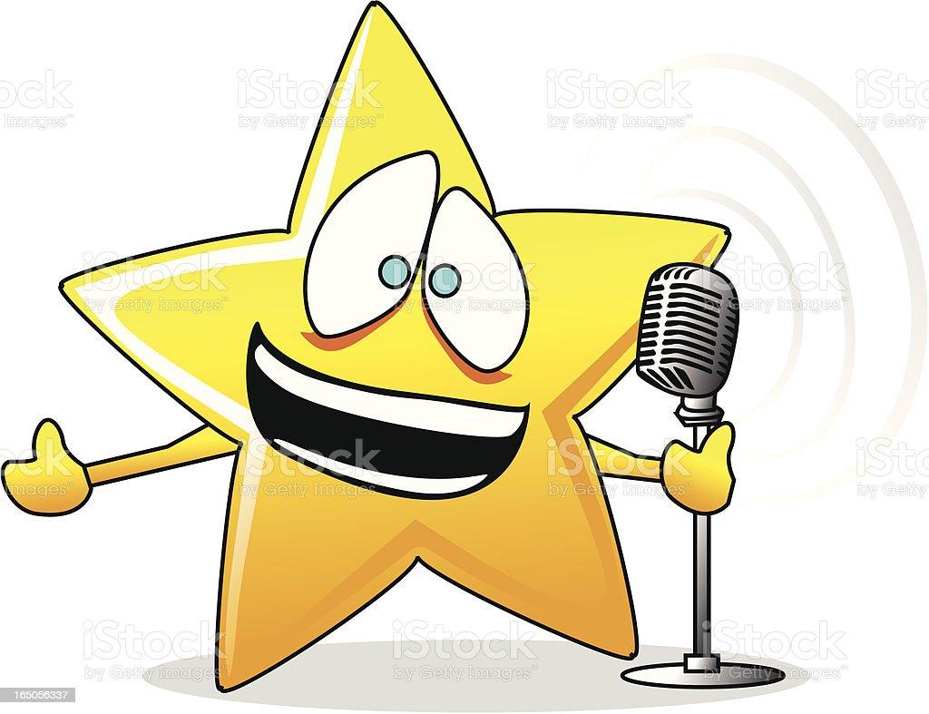 Singing Star vector art illustration