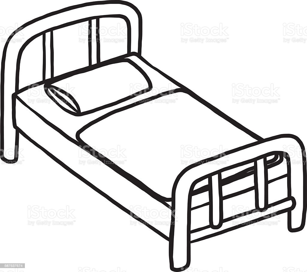 Bed Clipart Black And White Dothuytinh