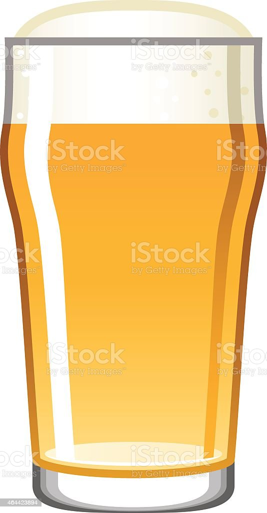 Single Beer Glass Icon Isolated on White vector art illustration