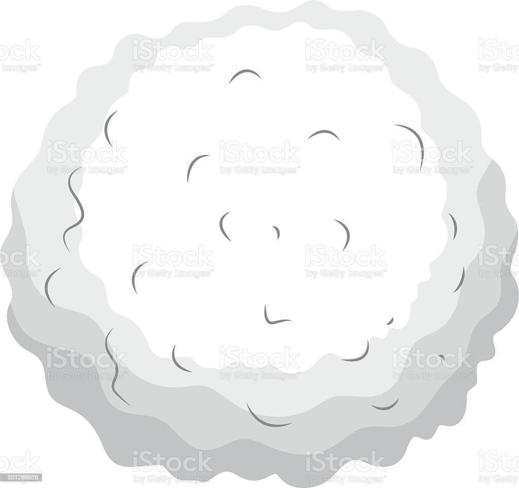 Single blood cell  detail vector art illustration