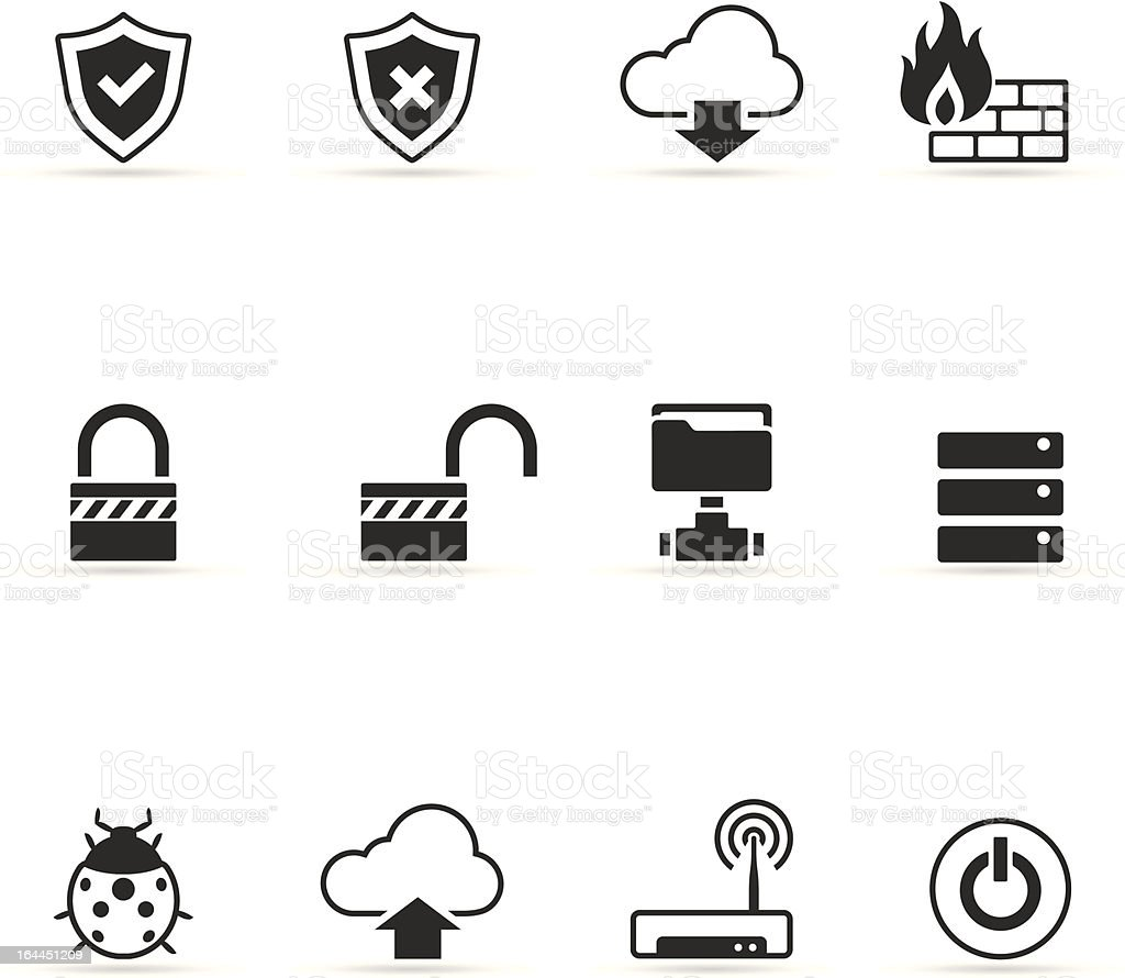 Single Color Icons - Computer Network royalty-free stock vector art