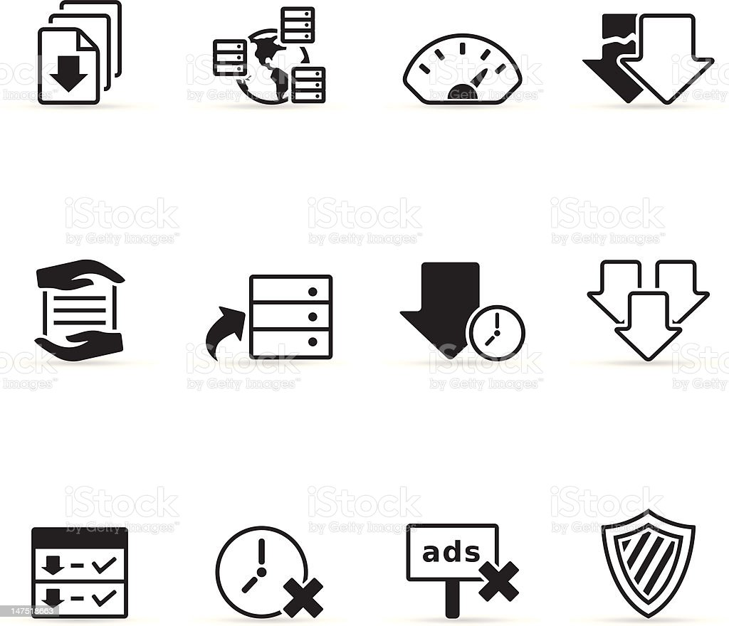 Single Color Icons - File Sharing vector art illustration