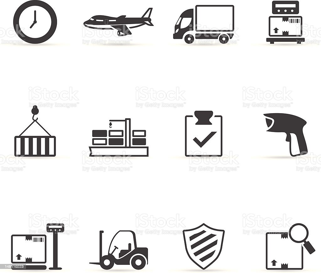 Single Color Icons - More Logistic stock photo