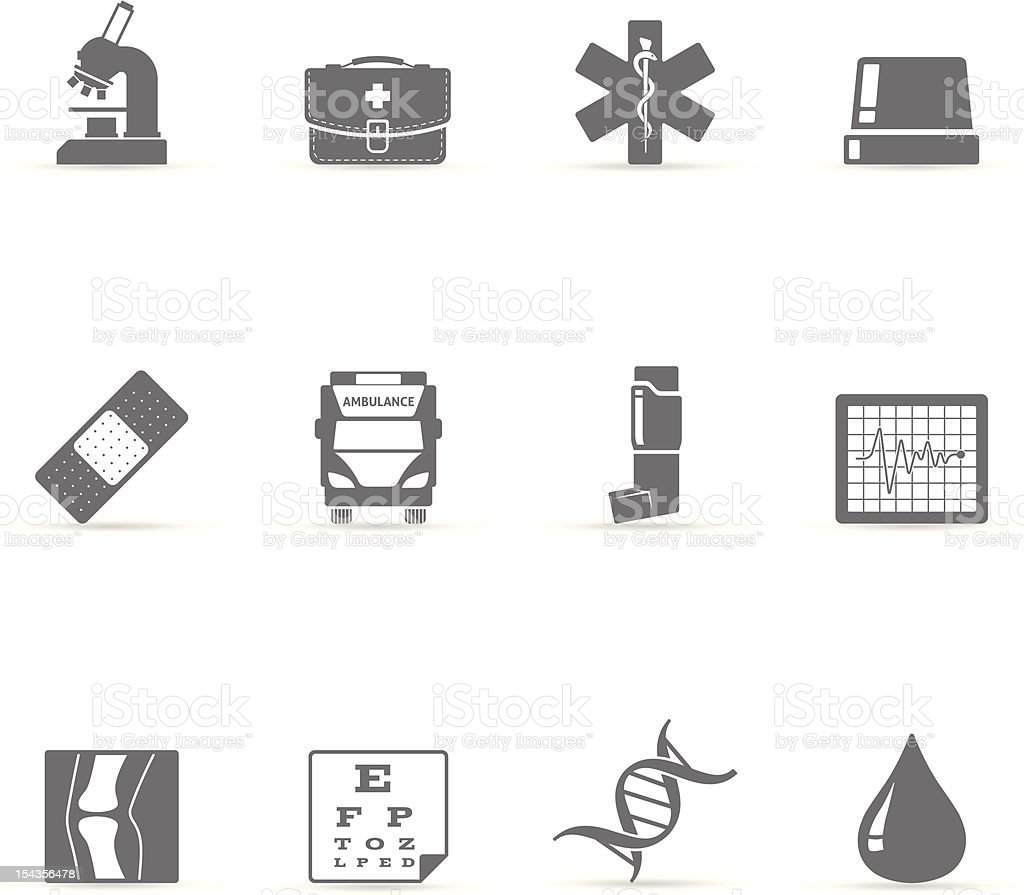 Single Color Icons - More Medical vector art illustration