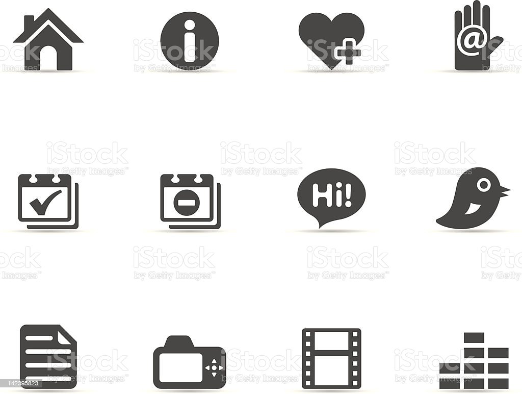 Single Color Icons - Personal Portfolio royalty-free stock vector art