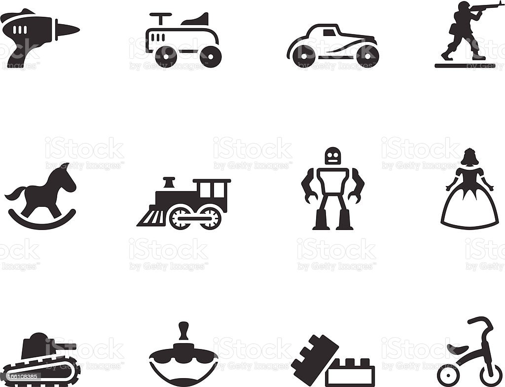 Single Color Icons - Toys vector art illustration