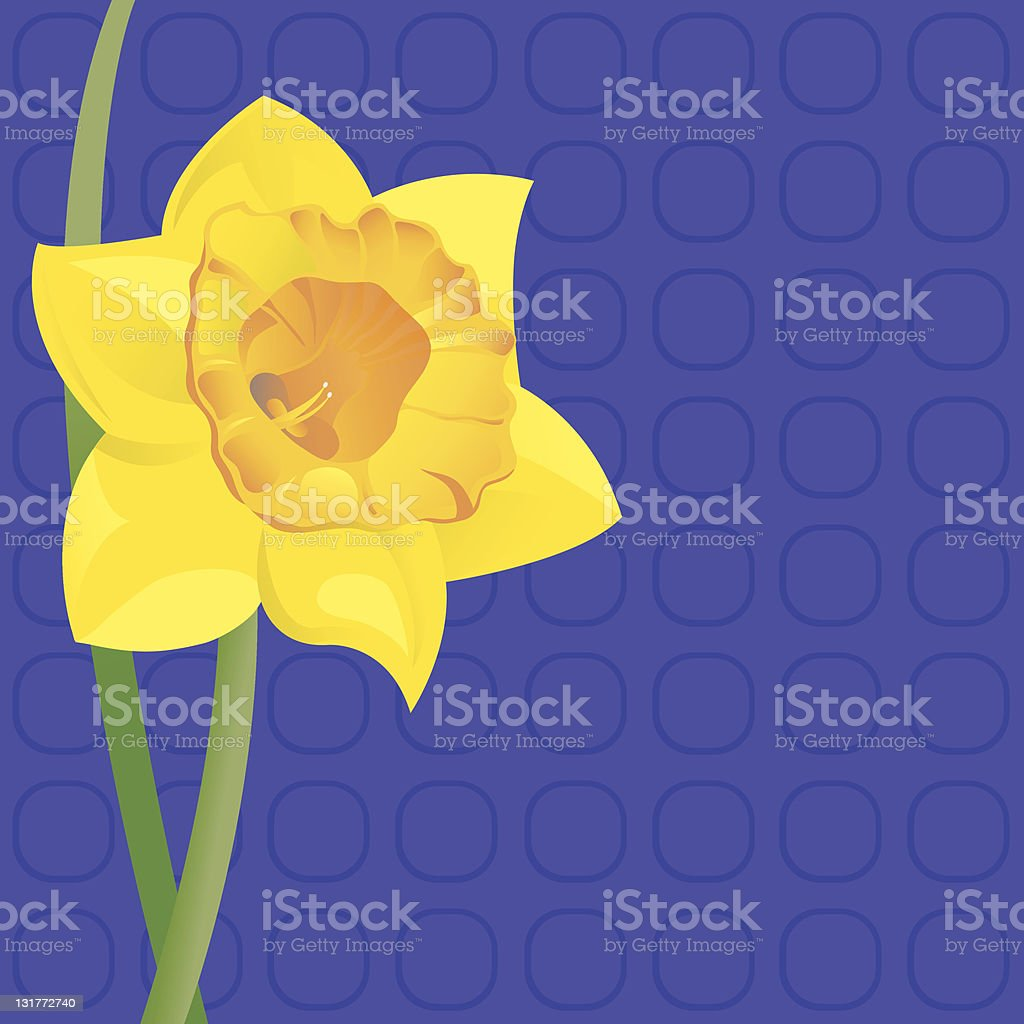 Single Daffodil royalty-free stock vector art