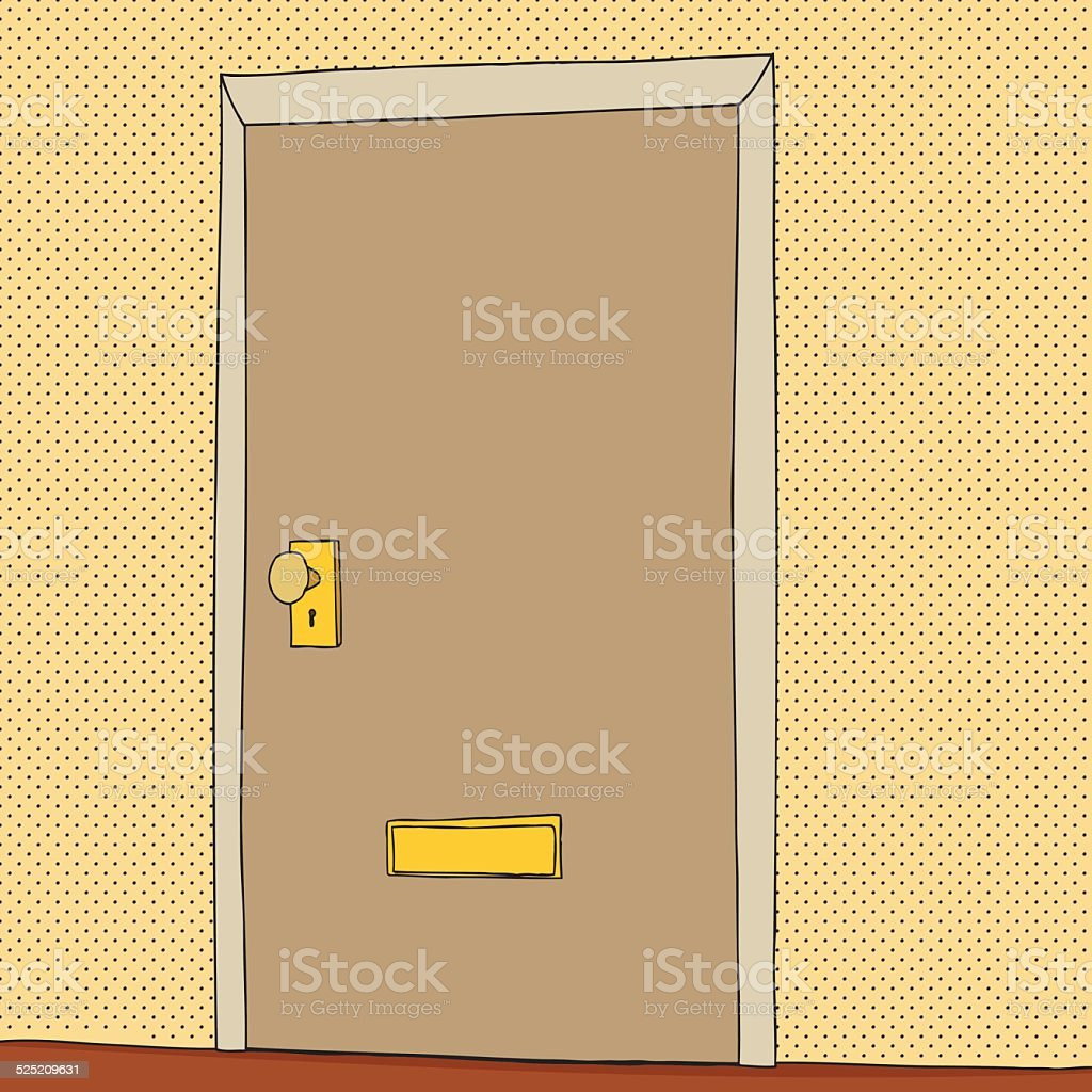 Closed Door Drawing drawing of a closed door clip art, vector images & illustrations
