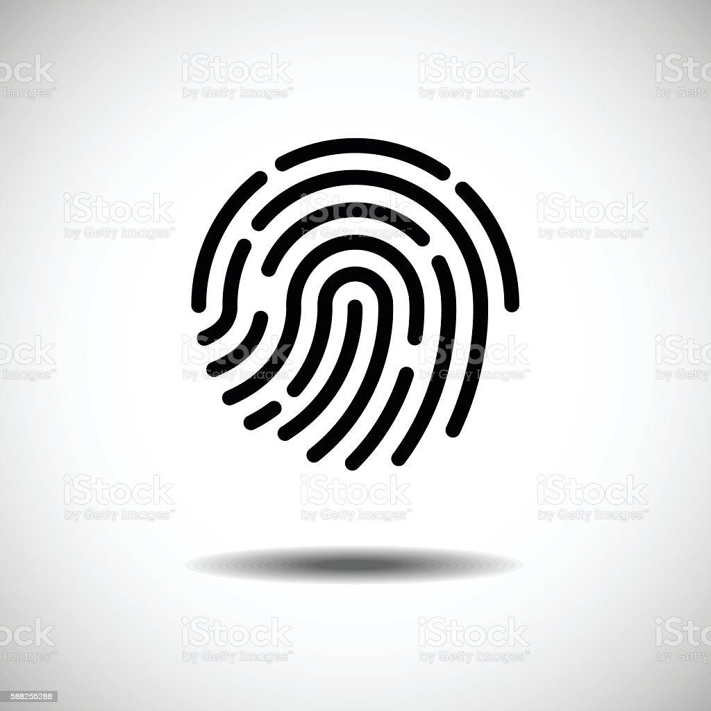Single Fingerprint. vector art illustration