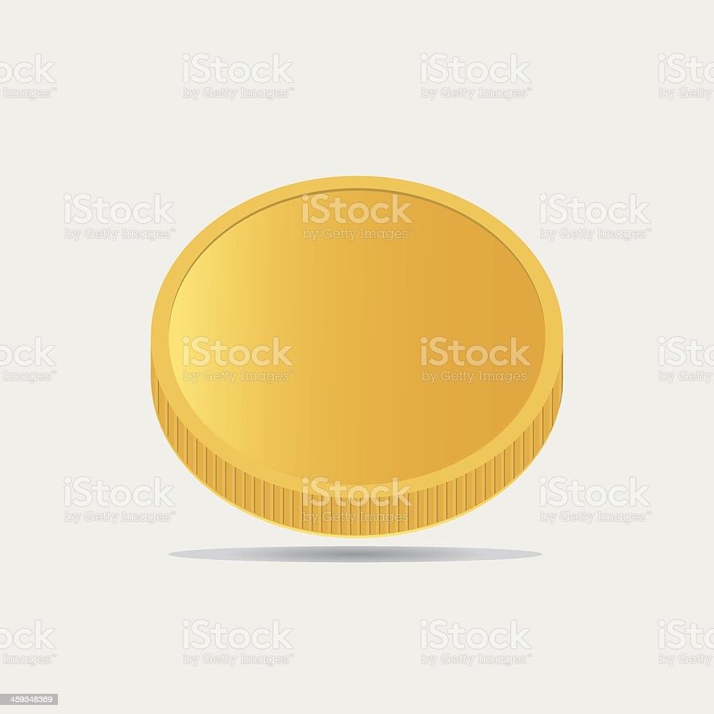 Single gold coin royalty-free stock vector art