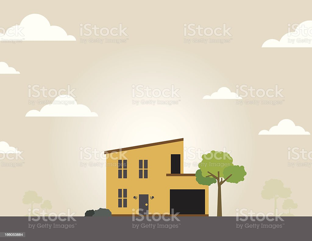 Single Home vector art illustration