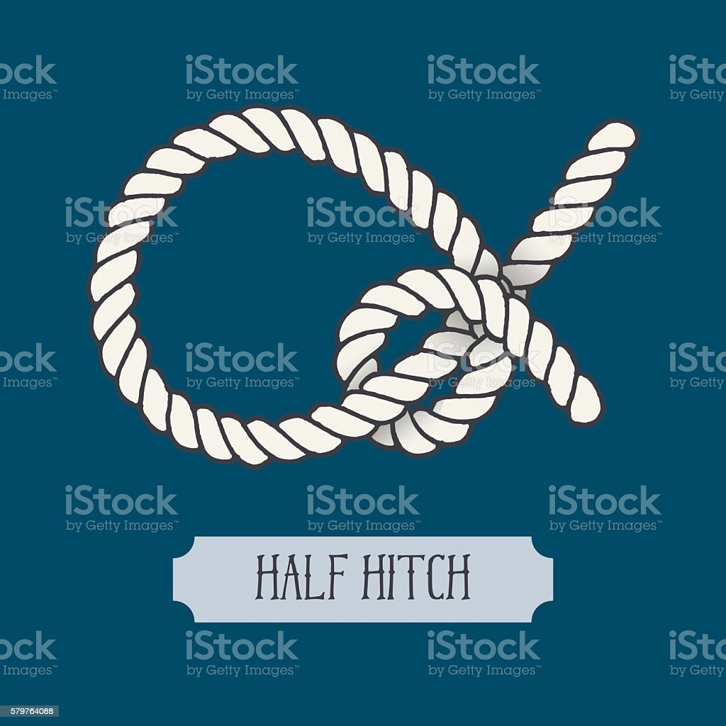 Single illustration of nautical knot vector art illustration