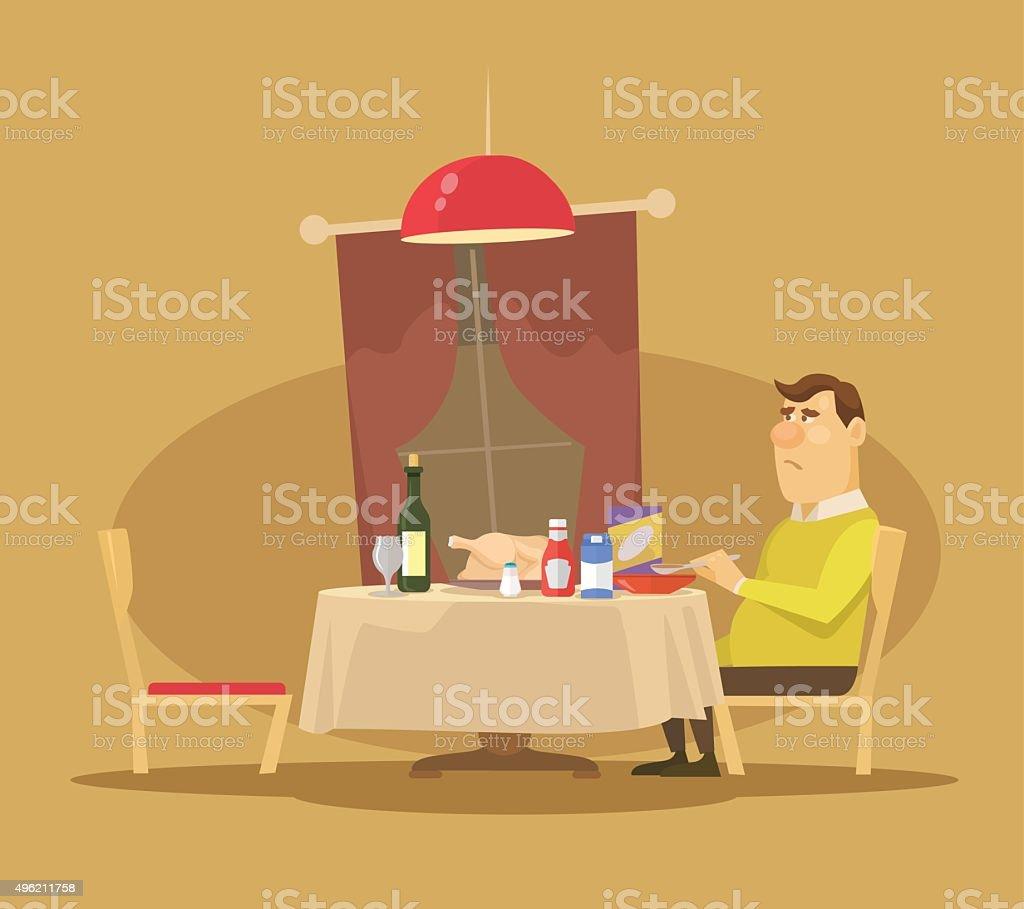 Single man. Vector flat illustration vector art illustration