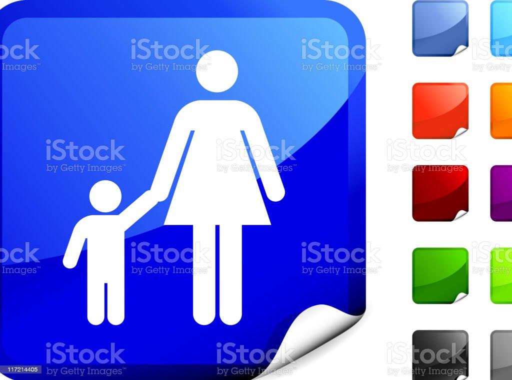 Single mother internet royalty free vector art royalty-free stock vector art