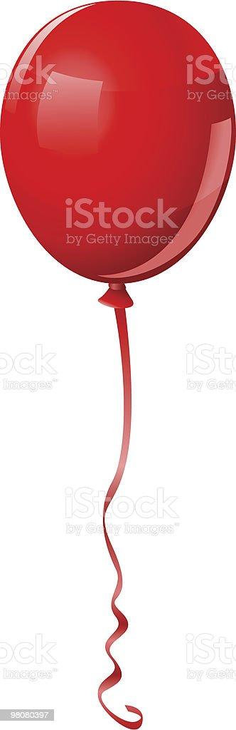 Single Red Balloon Vector royalty-free stock vector art