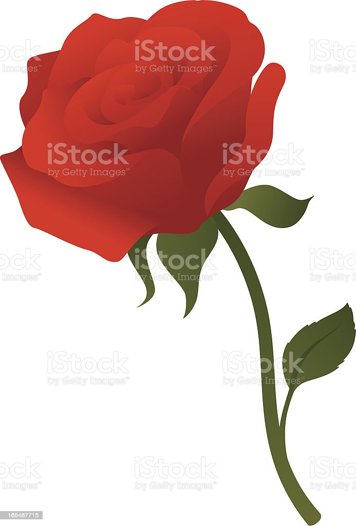 Single Red Rose - incl. jpeg royalty-free stock vector art