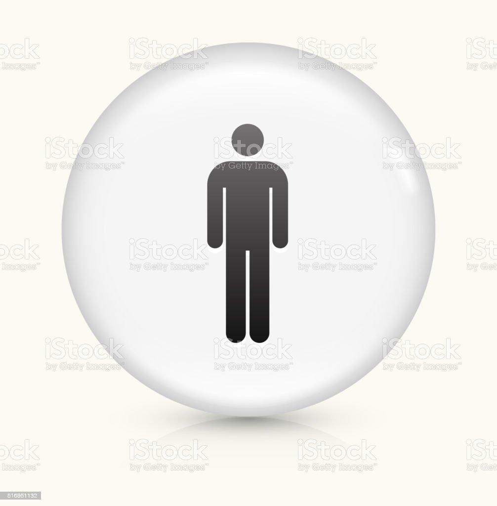 Single Sticker Figure icon on white round vector button vector art illustration