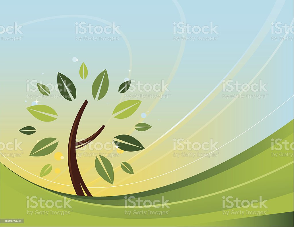 Single Tree royalty-free stock vector art