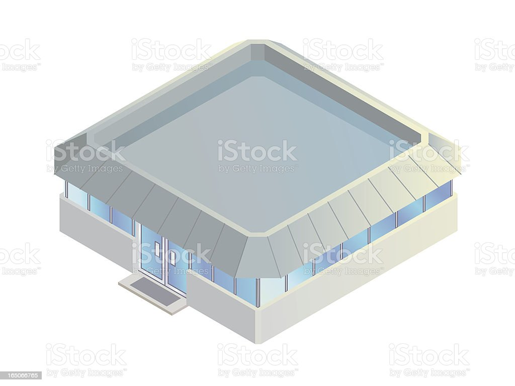 Single-story office building royalty-free stock vector art