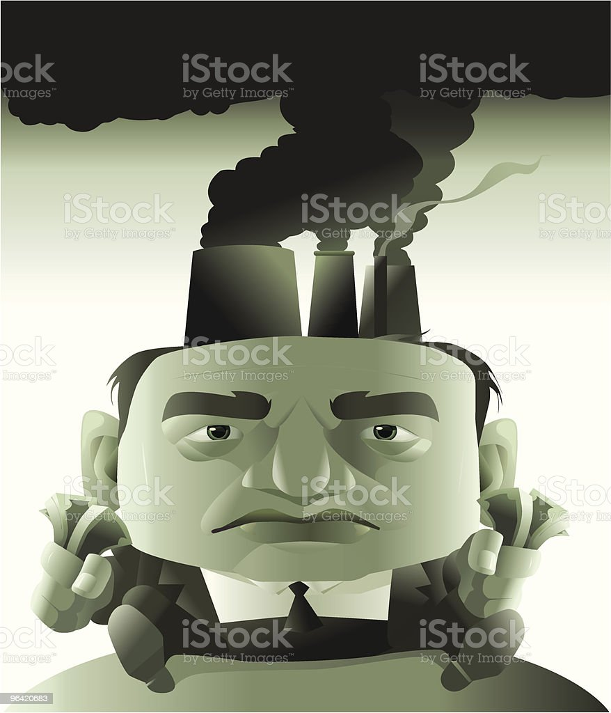 Sinister Shade of Green royalty-free stock vector art