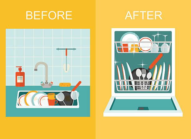Dishwasher Clip Art ~ Dishwasher clip art vector images illustrations istock