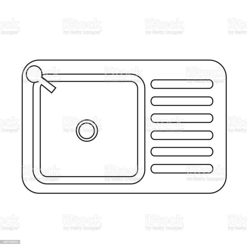 Kitchen Sink Lyrics Art sink icon stock vector art 663160834   istock