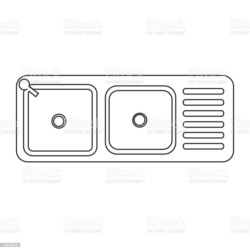 Kitchen Sink Lyrics Art sink icon stock vector art 663160844   istock