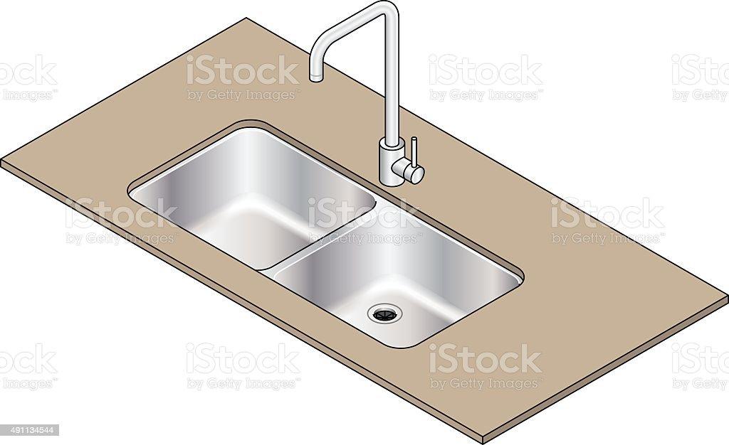 Sink vector art illustration