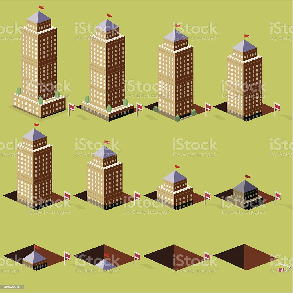 Sinking property prices royalty-free stock vector art