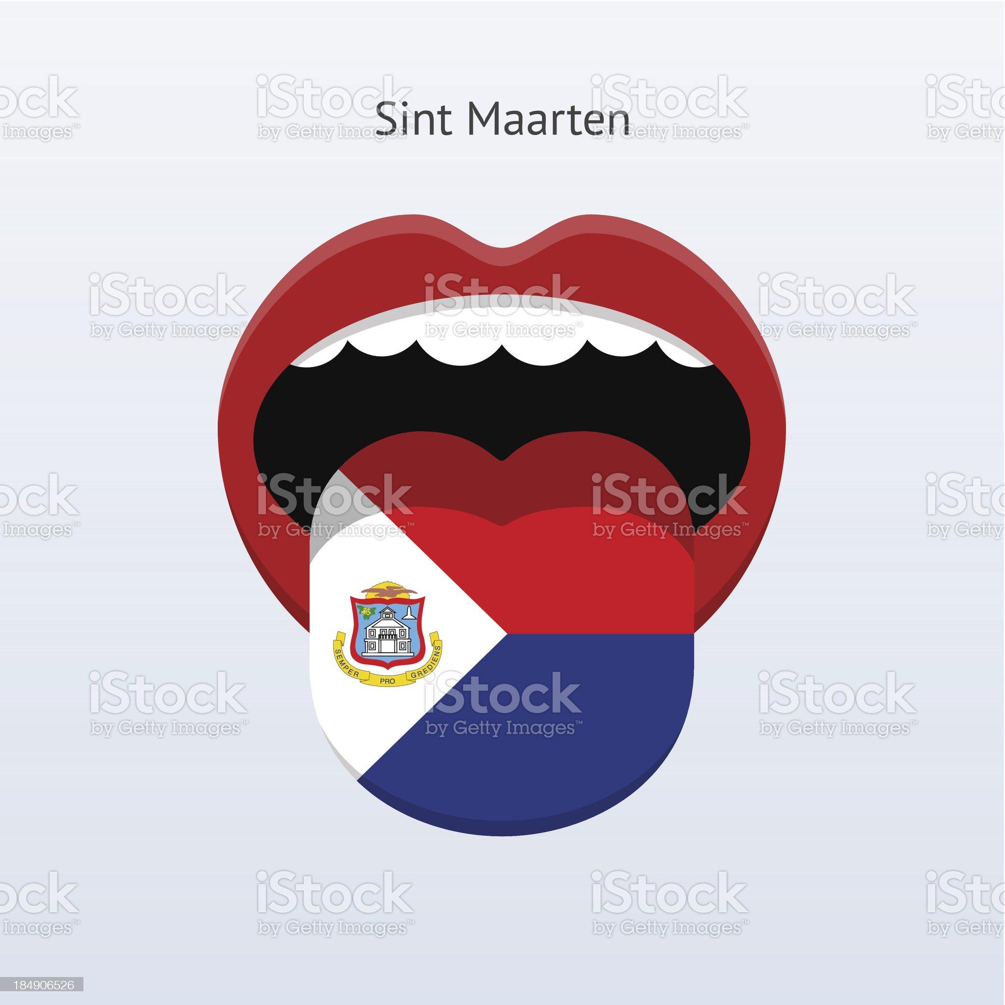 Sint Maarten language. Abstract human tongue. royalty-free stock vector art