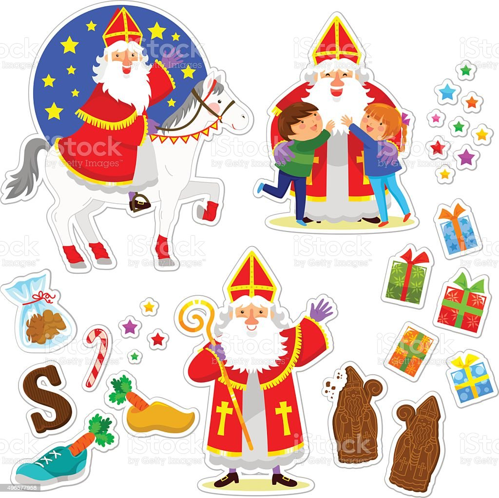 Sinterklaas collection vector art illustration
