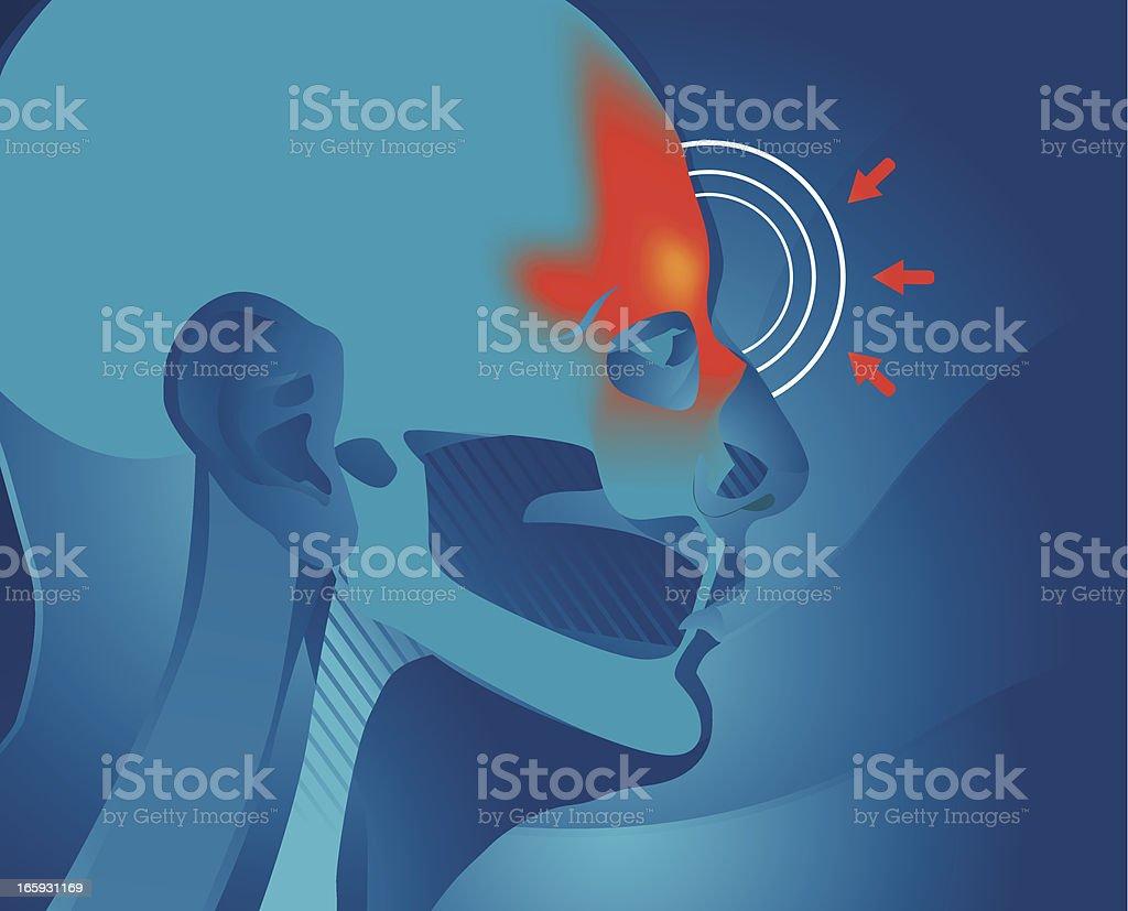 Sinus Pain vector art illustration