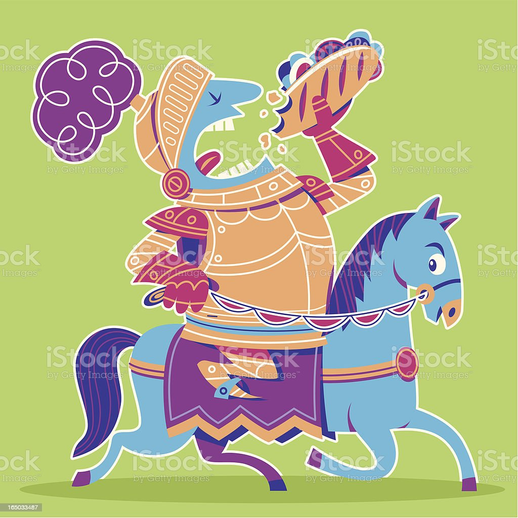 Sir Lunchalot vector art illustration