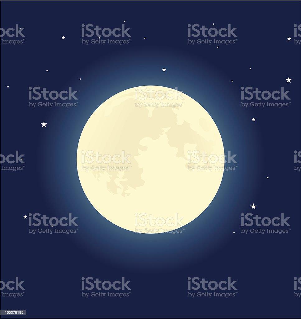 Sister moon vector art illustration
