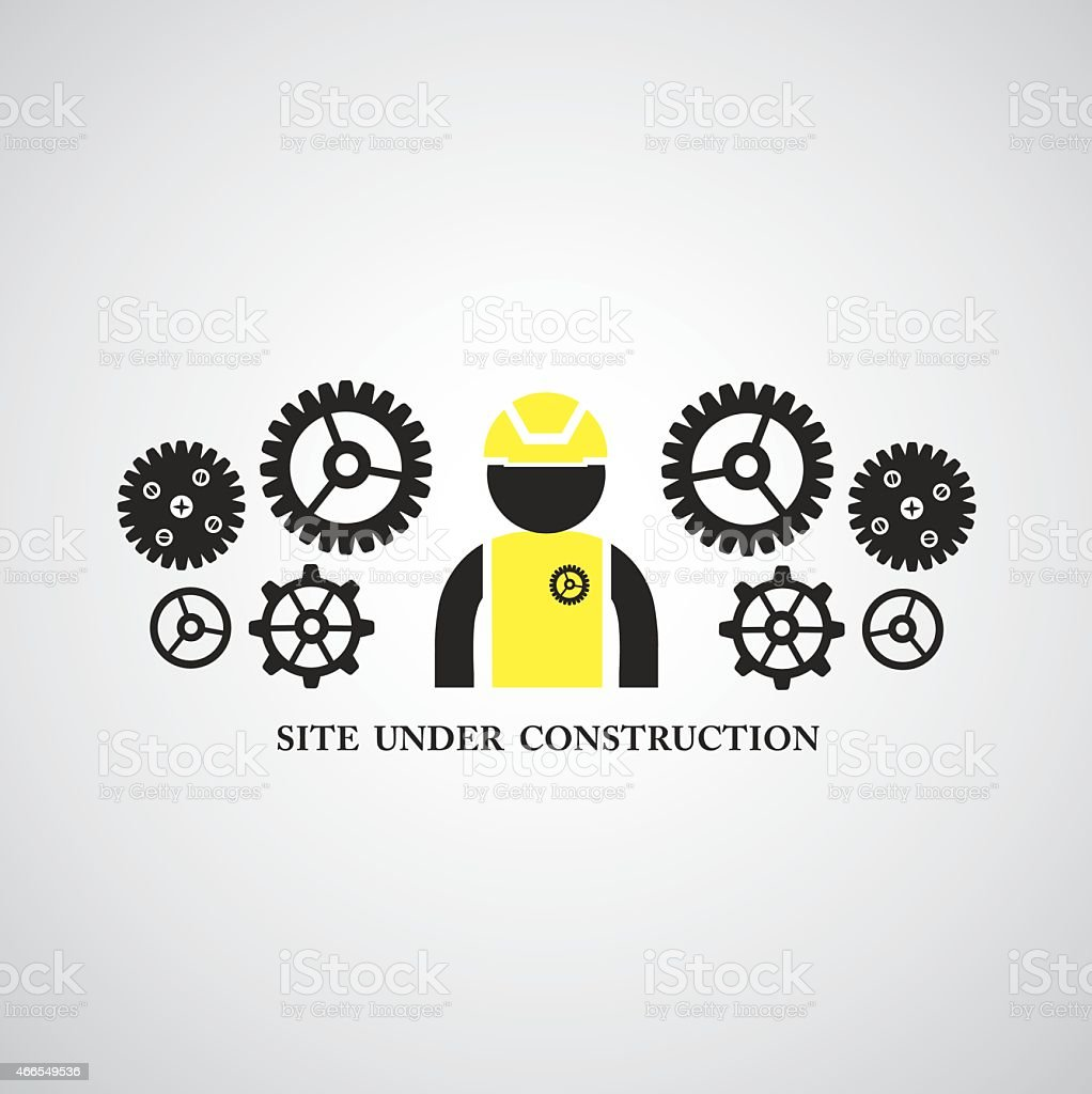 site under construct  symbol vector art illustration