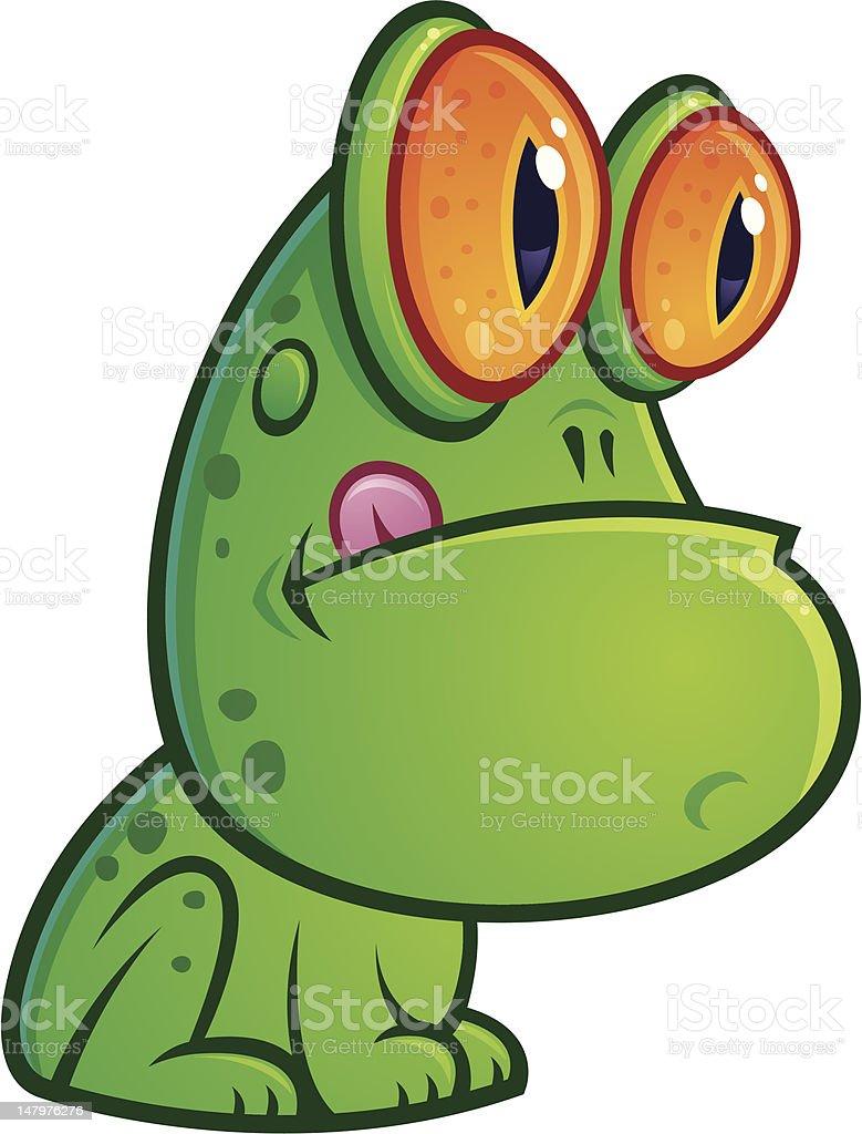 Sitting Frog vector art illustration