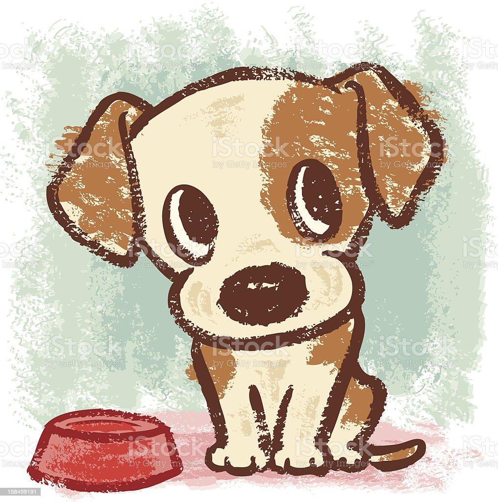 sitting puppy royalty-free stock vector art