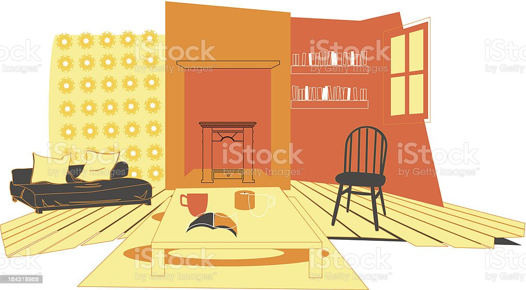Sitting Room royalty-free stock vector art