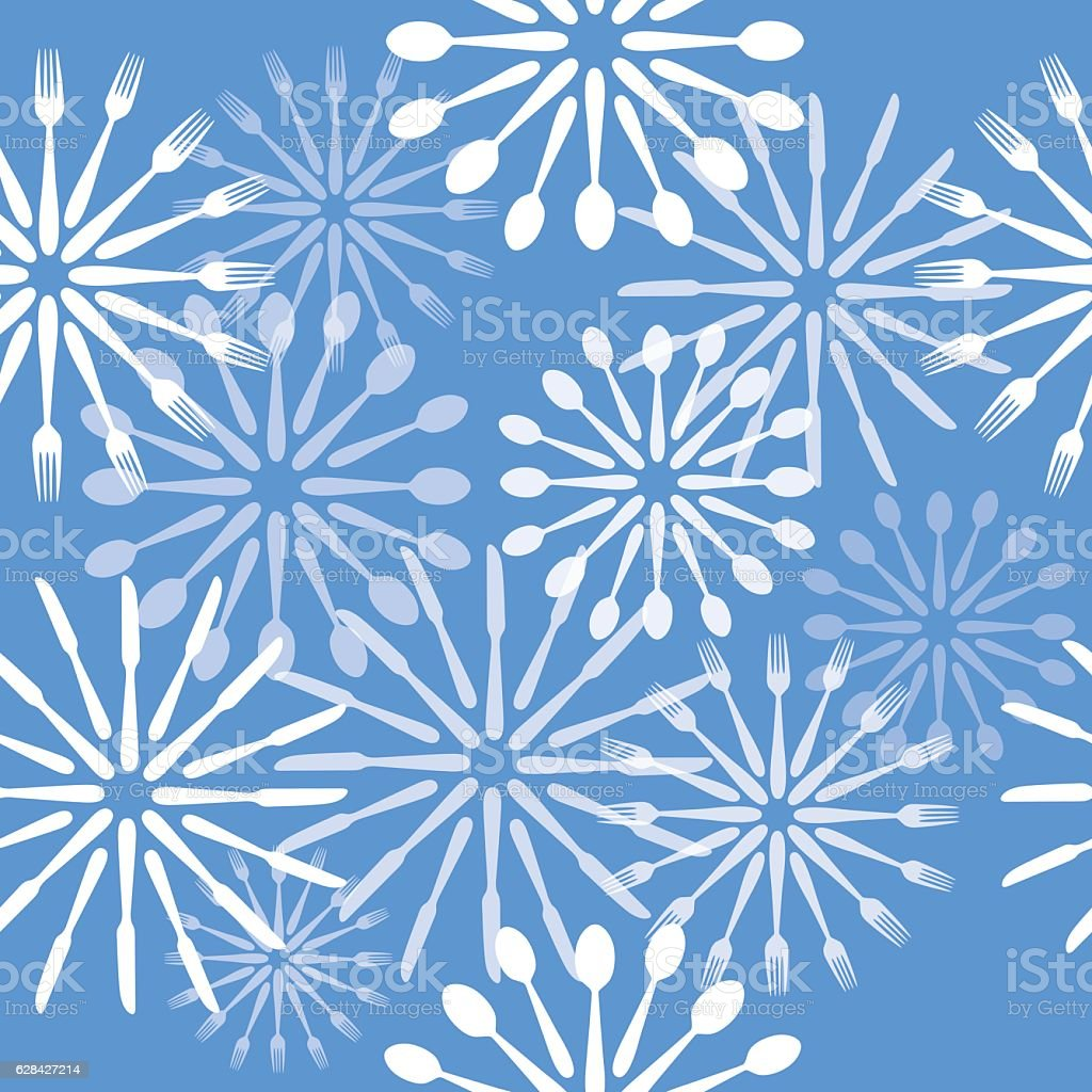 Sivlerware Snowflakes Christmas Ornaments vector art illustration