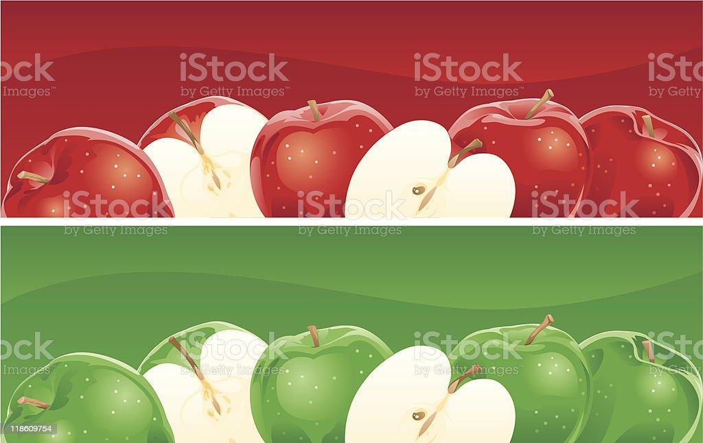 six apples royalty-free stock vector art