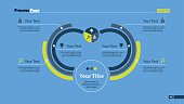 Six Arc Process Chart Slide Template
