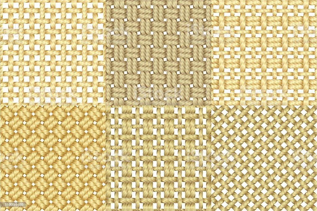 Six canvas pattern. vector art illustration