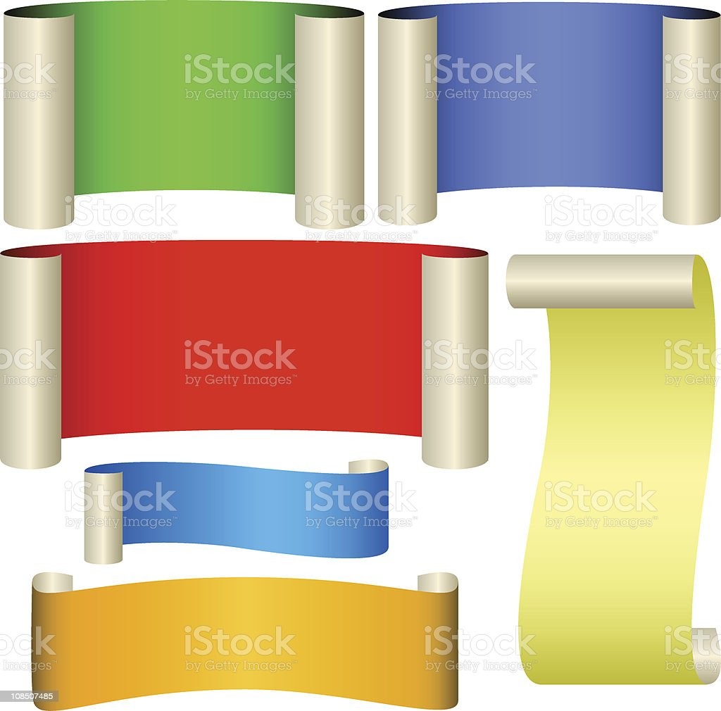 Six color banners royalty-free stock vector art