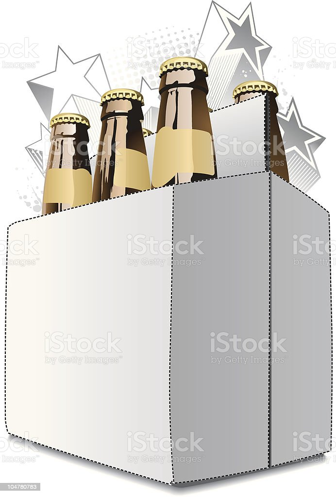 Six Pack royalty-free stock vector art